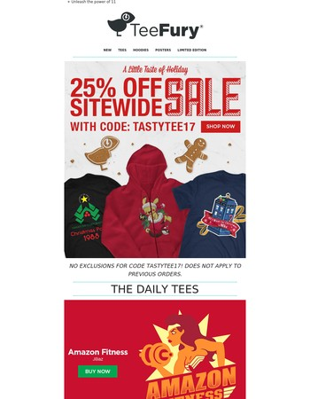 25% OFF Sitewide is Still Going Strong!