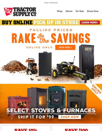 Our Big Fall Sale starts today - Rake in the savings