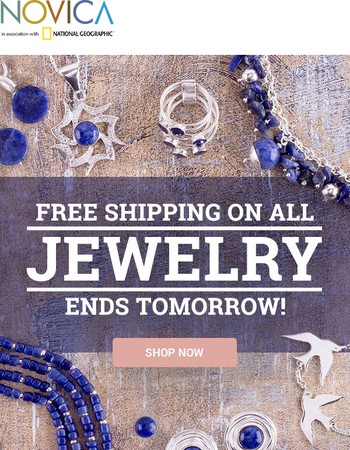 Free Shipping on Jewelry - Last 2 Days!