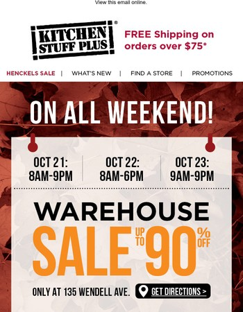 Get a Jump on Christmas at our Warehouse Sale!