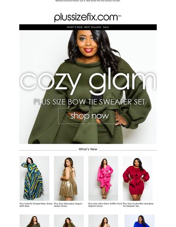 New Cozy Glam Sweater Dress + Night Out Curvy Outfits Added