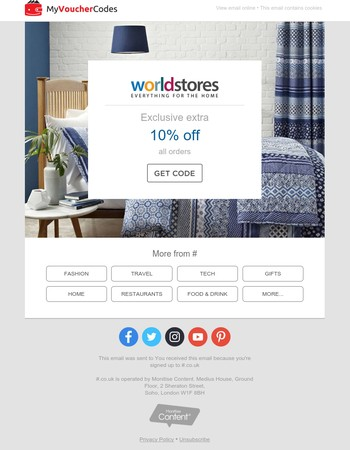 10% Off Everything At Worldstores