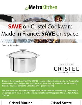 Save on Cristel 2pc Fry Pan Set starting at $149.95!