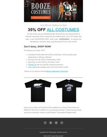 35% off Costume Sale!