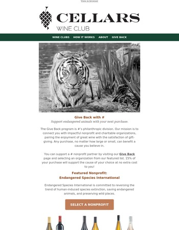 Help Rescue Endangered Animals With Your Next Purchase