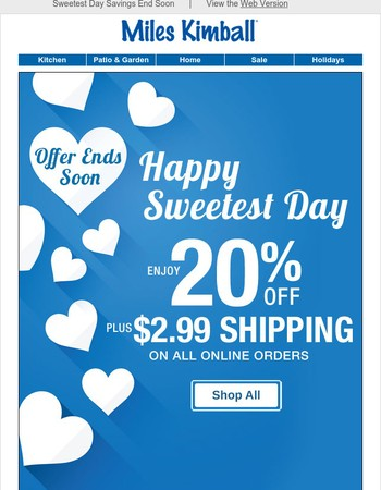 Don't Miss 20% Off and $2.99 Shipping