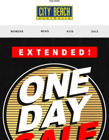 One Day Sale EXTENDED!