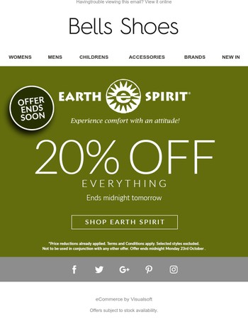 Offer Ends Soon - 20% Off Earth Spirit - Shop Now