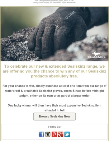 Sealskinz competition - last chance to enter