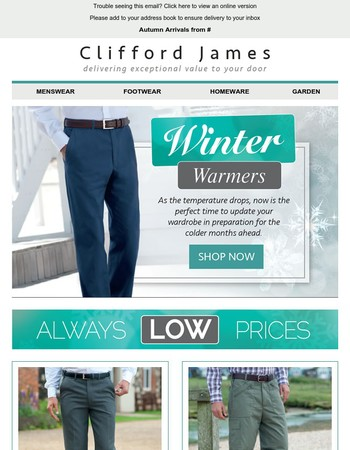 Winter Warmers from Clifford James