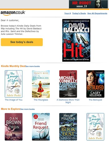 Kindle Daily Deal: Books from 99p