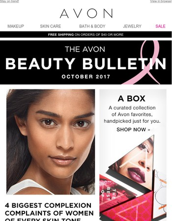 The October Avon Beauty Bulletin Is Here!