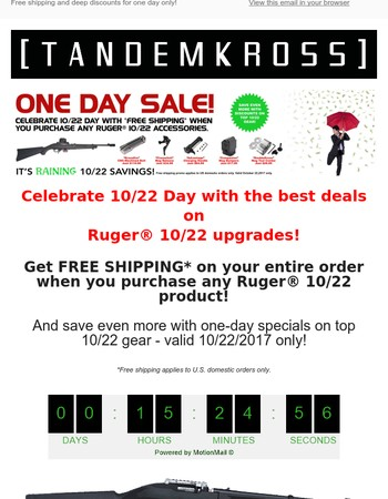 It's 10/22 Day! We're celebrating with great deals >>>