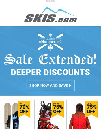 Sale Extended!  You Still Have Time To Save!