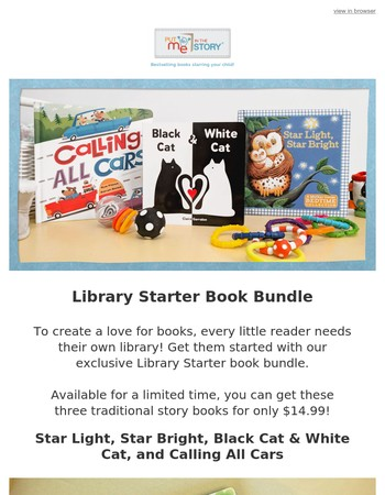 Get them to love reading with our exclusive Library Starter Kit