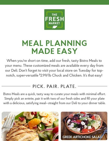 Simplify and Save with Bistro Meals + $2.99 Tuesday