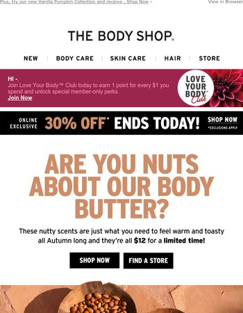 Butter Up for Fall: $12 Body Butter Won't Last Much Longer!