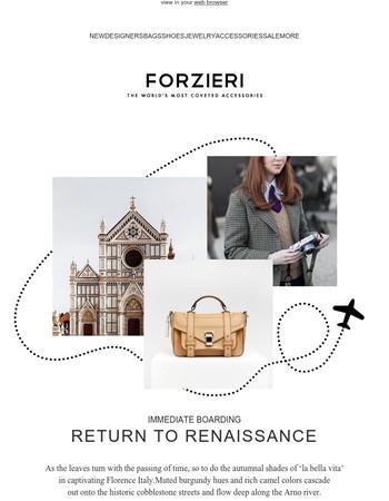 Immediate boarding, Florence // Fall Edit