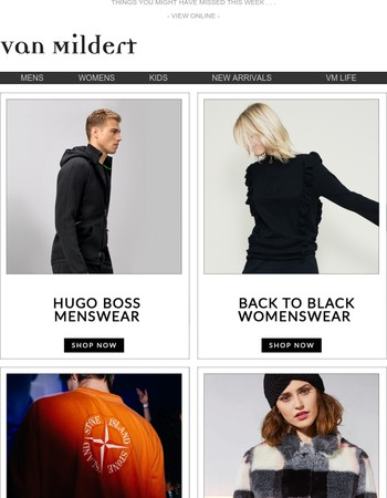 New Stone Island, Hugo Boss, Vivienne Westwood, And More...
