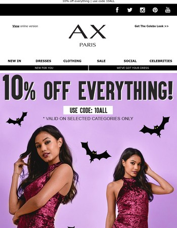 10% Off Everything - Ends midnight, don't miss out!