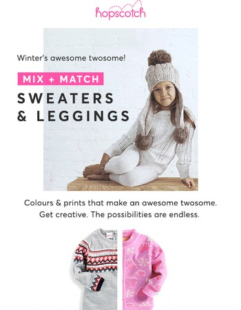 Winter's Awesome Twosome? Sweaters & Leggings!