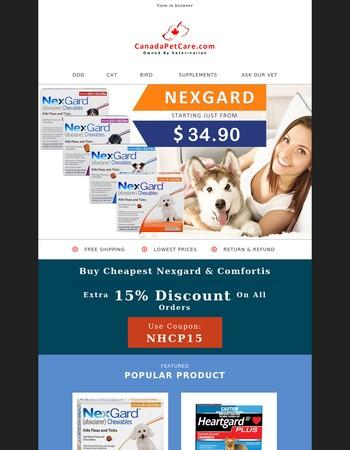 Nexgard & Heartgard Plus Bumper Sale! More Saving & Free Shipping