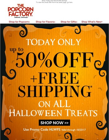 50% Off + Free Shipping on Halloween Gifts!