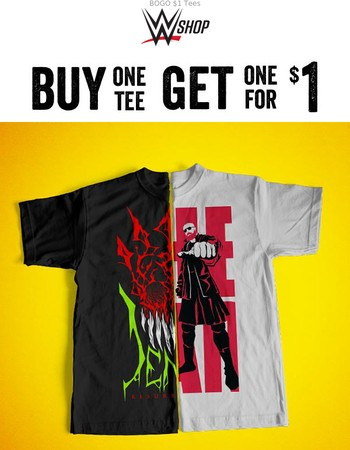 Buy 1 Tee, Get 1 for Just $1!