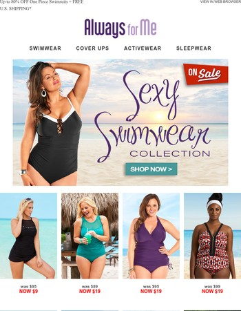 One Piece Swimwear Starting at $9