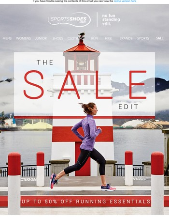 The Sale Edit   Running Essentials up to 50% off