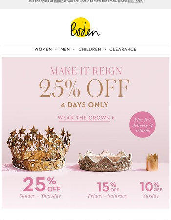25% OFF to conquer wardrobe worries