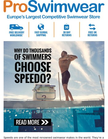 Discover The Speedo Range Of Performance Suits, Training Swimwear And Accessories