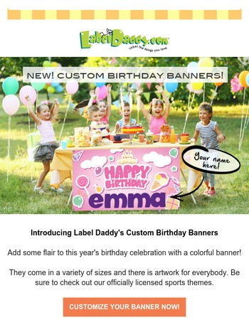 Introducing Our New Custom Birthday Banners!