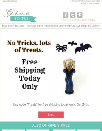 Free Shipping for Halloween