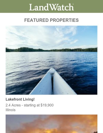 Explore Your Options, Find Millions of Properties on Landwatch