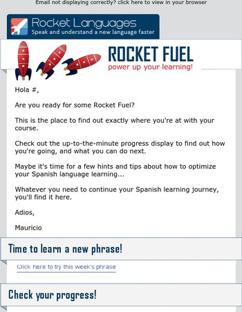 Hola Mary, ready for some - Rocket Fuel?