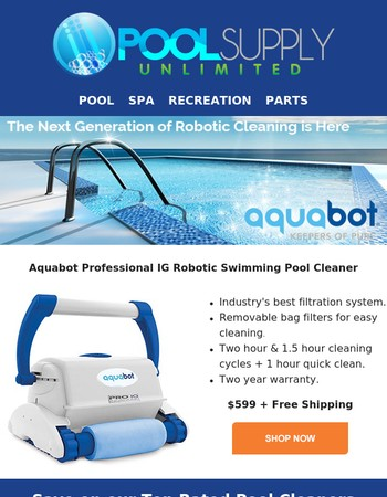 Lowest Prices of the Season on our Top Pool Cleaners