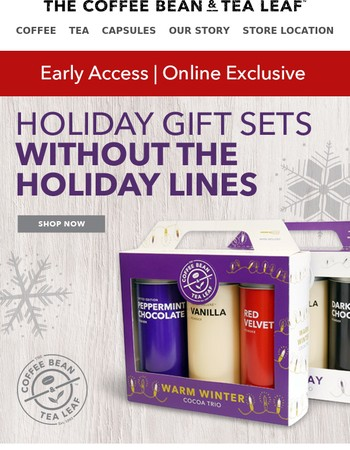 Online Exclusive! Holiday Gift Sets without the Holiday Lines