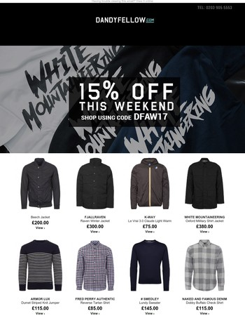 Complete Your Winter Wardrobe With 15% OFF at Dandy Fellow This Weekend