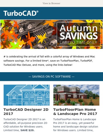 Last Chance: TurboCAD.com Fall Savings