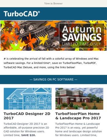 Last Chance: TurboCAD.com Fall Savings