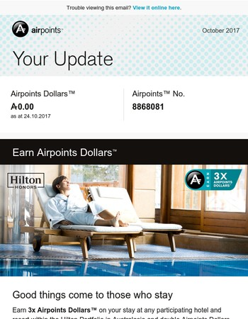Mary, here's your Airpoints Update