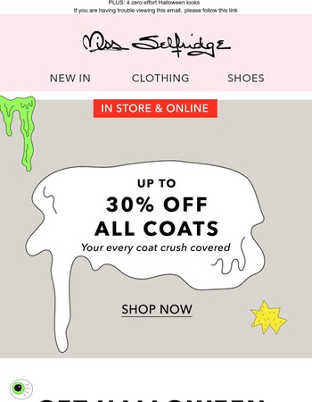 Up to 30% off Coats!