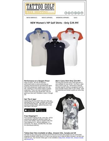 ☠ New VIP Women's Golf Shirts - Only $39.99 ☠