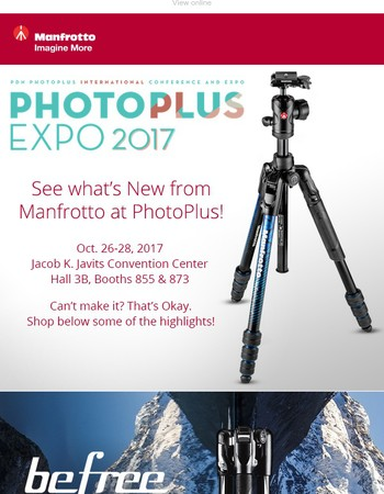Check Out all the New Manfrotto Gear at PhotoPlus this Weekend