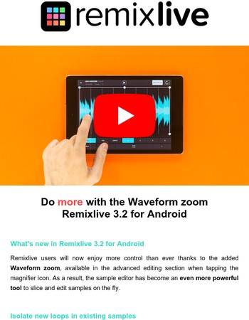 Do more with the Waveform zoom | Remixlive 3.2 for Android