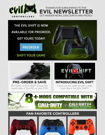 The EVIL SHIFT is now available for Pre-Order! Reserve yours today!