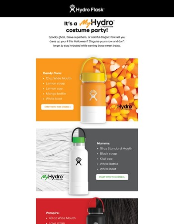 Design a My Hydro to match your costume.