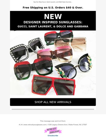 Shop New Designer Inspired Sunglasses (You Must See This)