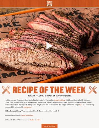 Video Recipe of the Week: Texas Style BBQ Brisket by Doug Scheiding